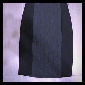 The limited collection pencil skirt black and gray